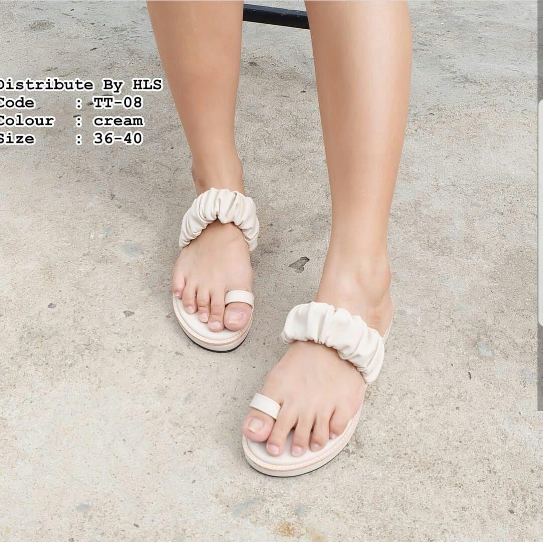 Mz Sandal Wanita Flat Jepit Cincin
