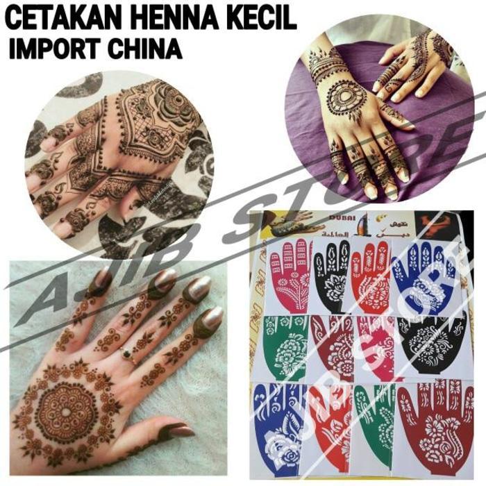 Cek Harga Baru Cetakan Henna Telapak Tangan Model 1 Mal Hena Motif