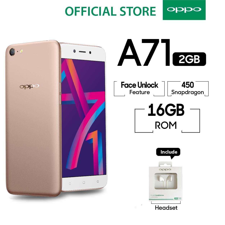 OPPO A71 New 2018 2GB/16GB Snapdragon -  (Garansi Resmi Oppo, Cicilan Tanpa Kredit, Gratis Ongkir)