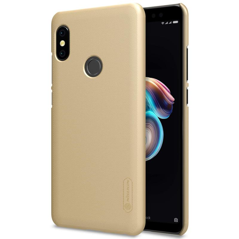 Nillkin Frosted Hard Case Casing Xiaomi Redmi Note 5 Pro - Emas
