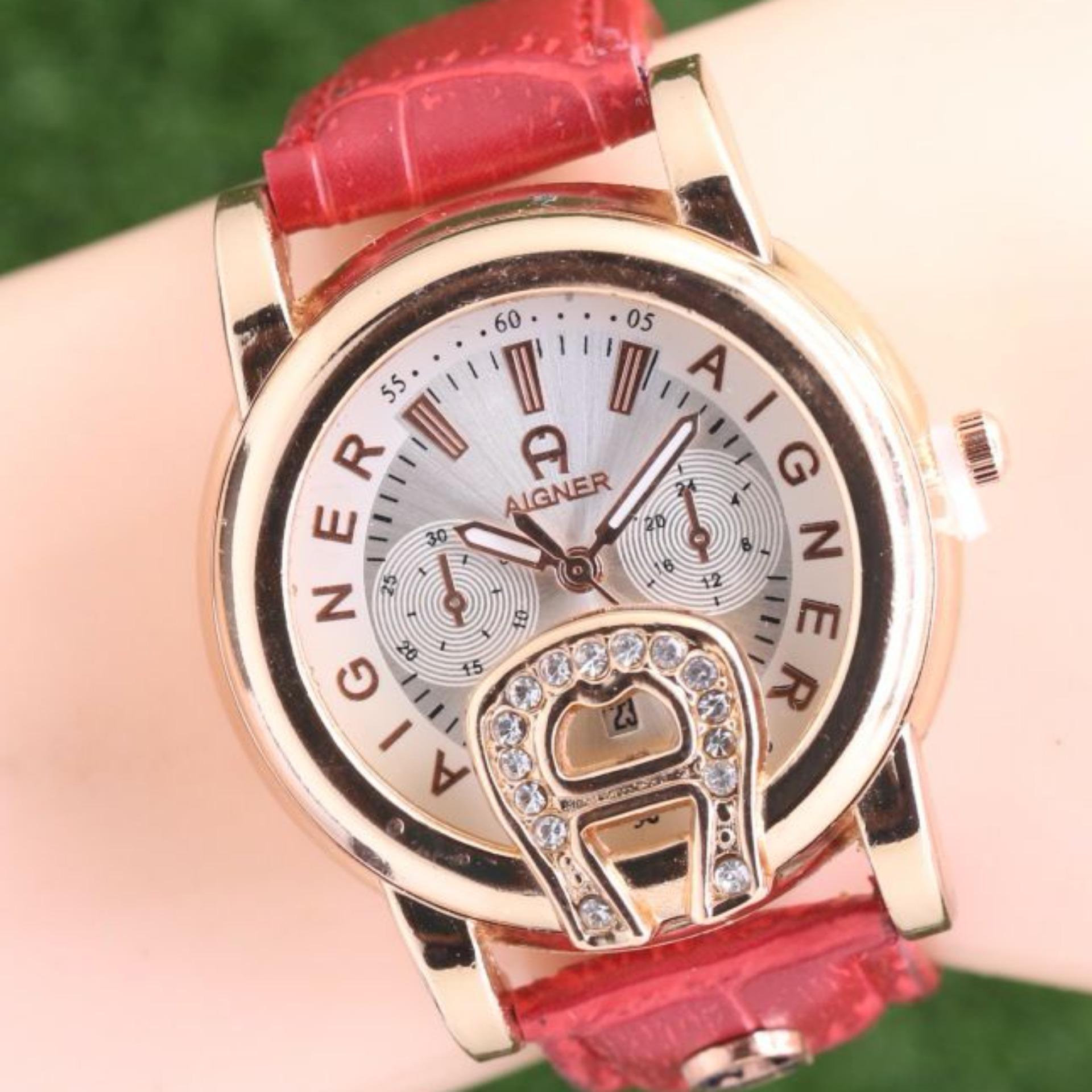 Jam tangan Wanita - Model Casual Trendy - Body Gold - Leather strap - Analog 62c1068d76