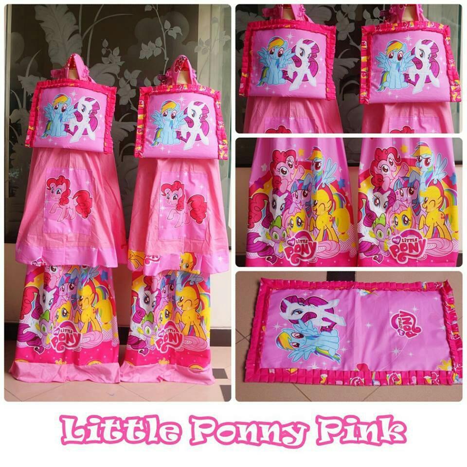 Jual Madeena Mukena Anak Karakter Little Pony Pink Lengkap