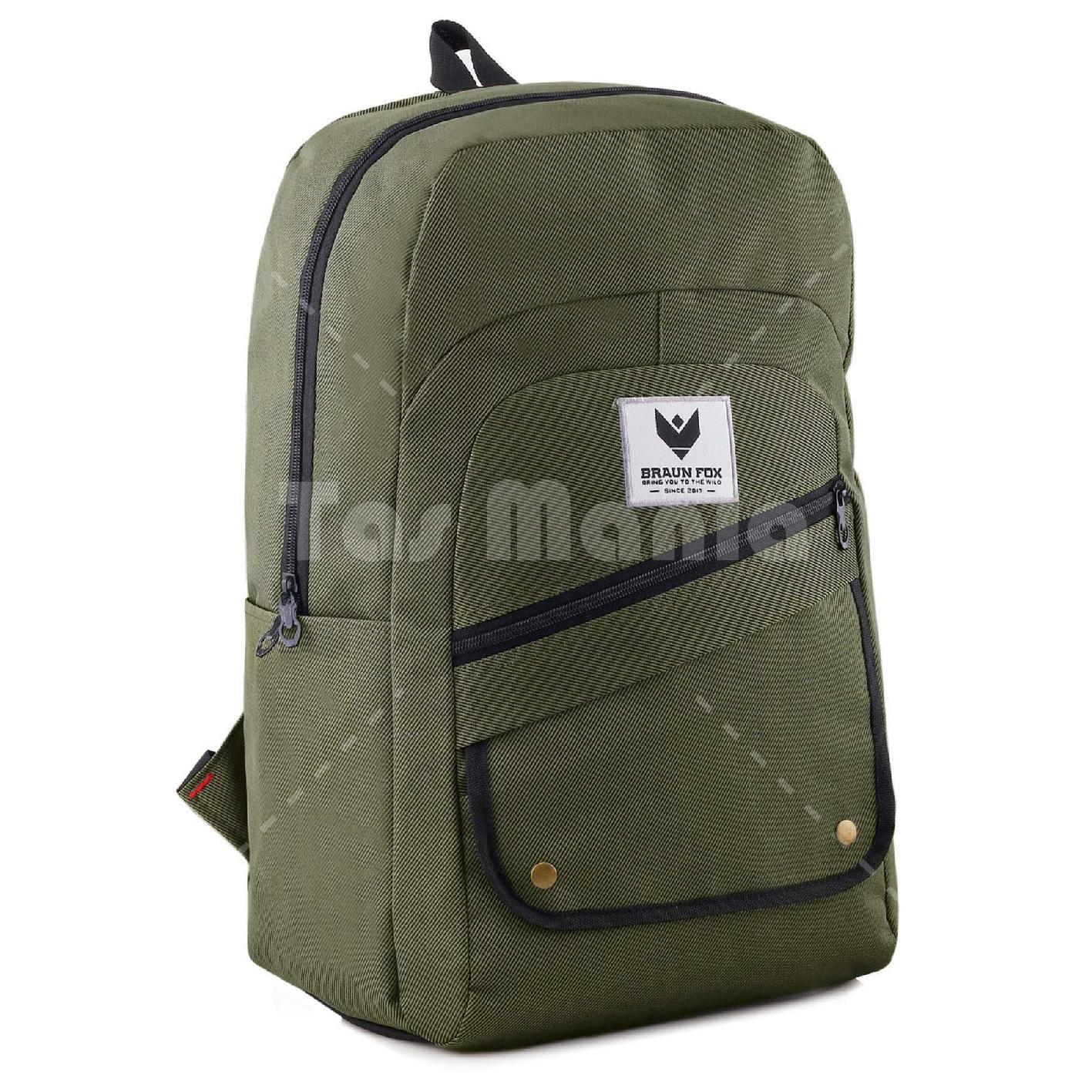 Tas Ransel Braun Fox Jester X Casual Dailypack Laptop Backpack Green