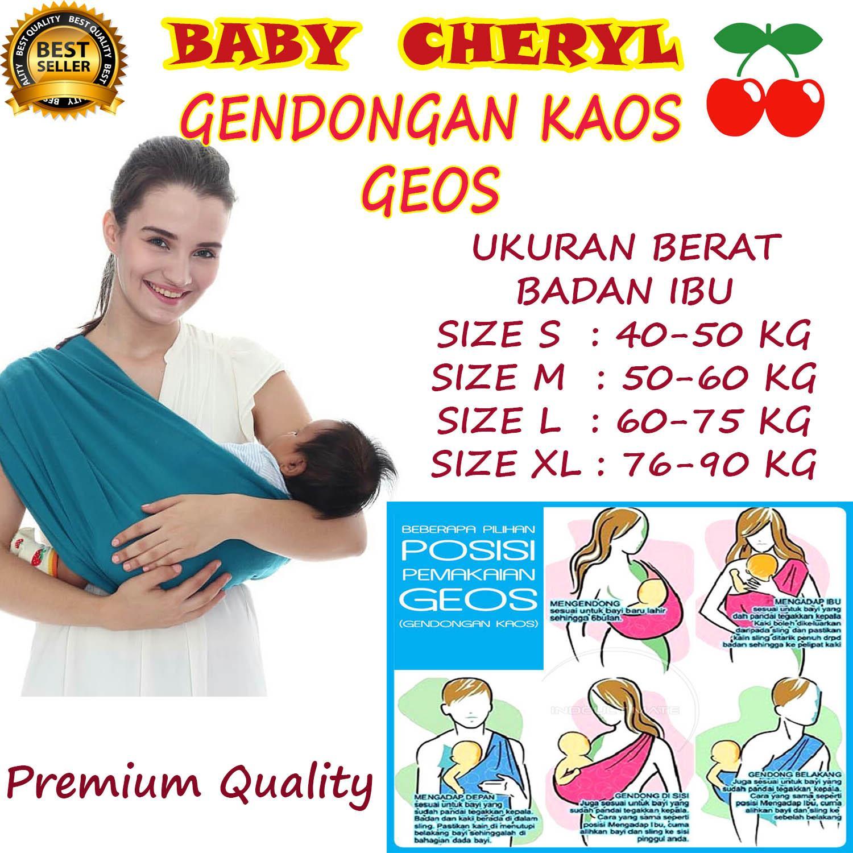 BABY CHERYL PREMIUM GENDONGAN Bayi Kaos/Geos/selendang Bayi Praktis Ukuran .