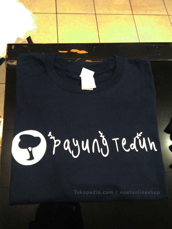 NEW PROMO kaos band polyflex gildan payung teduh logo font