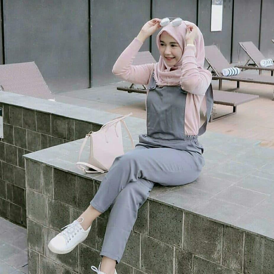 Fashion Muslim Akaza Jumpsuit Ballotely Pakaian Wanita Muslim Jumpsuit 2in1 Atasan dan Bawahan Fashionable Terbaru