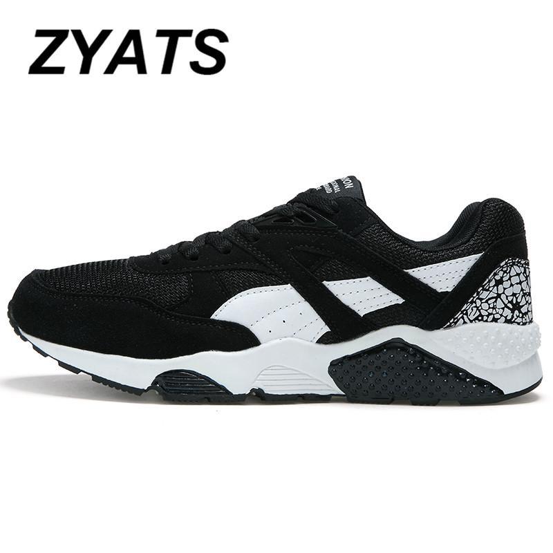 Detail Gambar Zyats Busana Bertautan Kasual Pria Renda Lari Sepatu Sneakers Terbaik