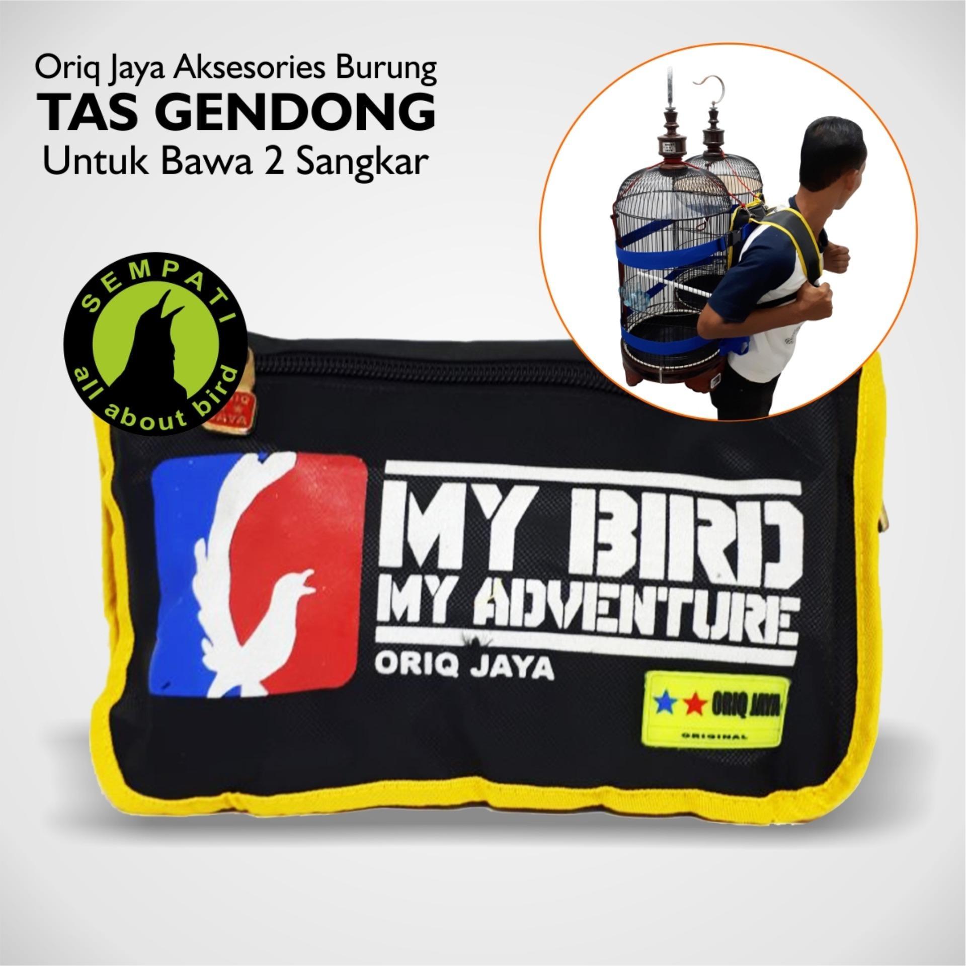 KRODONG SANGKAR BURUNG KAOS LOMBA LOVEBIRD POLOS ORIQ JAYA. Source · Tas Punggung Untuk Bawa Dua Sangkar Burung Oriq Jaya