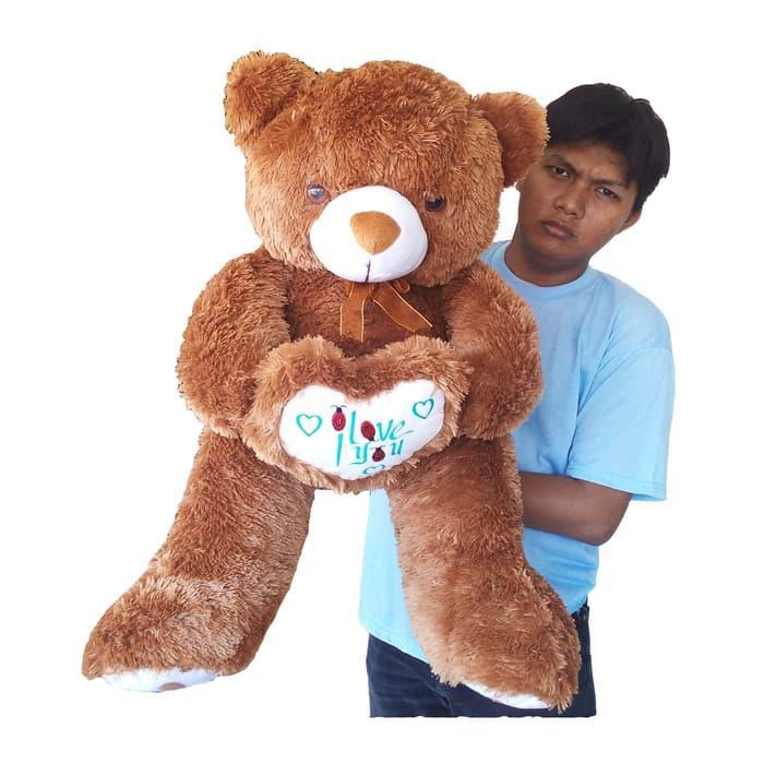 Boneka Beruang Besar Coklat mainan anak   mainan anak perempuan   mainan  anak laki-laki fecd4c2729