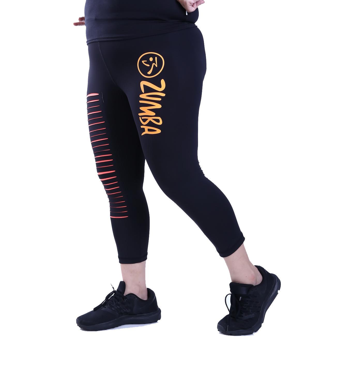 ... Celana Senam Zumba Wanita - Hitam Orange XL - 3 ...