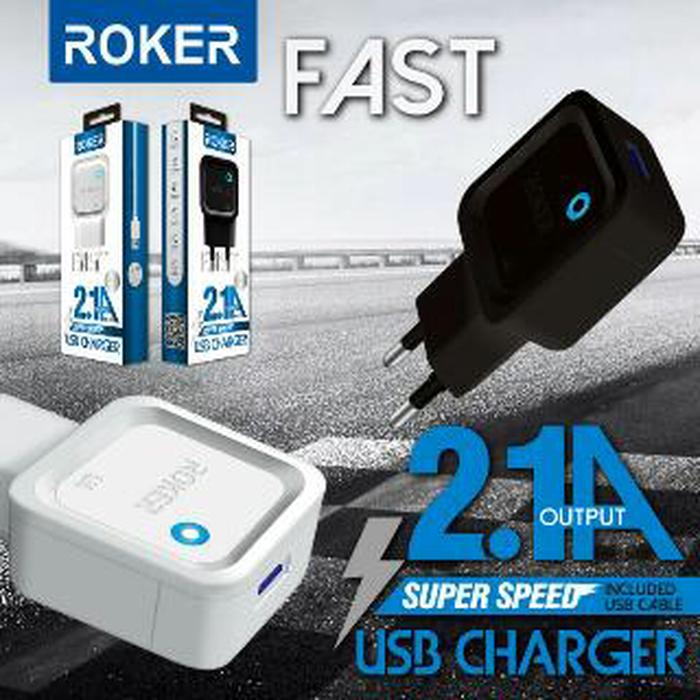 Hemat 10%!!! Charger Roker Type C Output Full 2A With Led Indicator Batok Casan Usb - ready stock