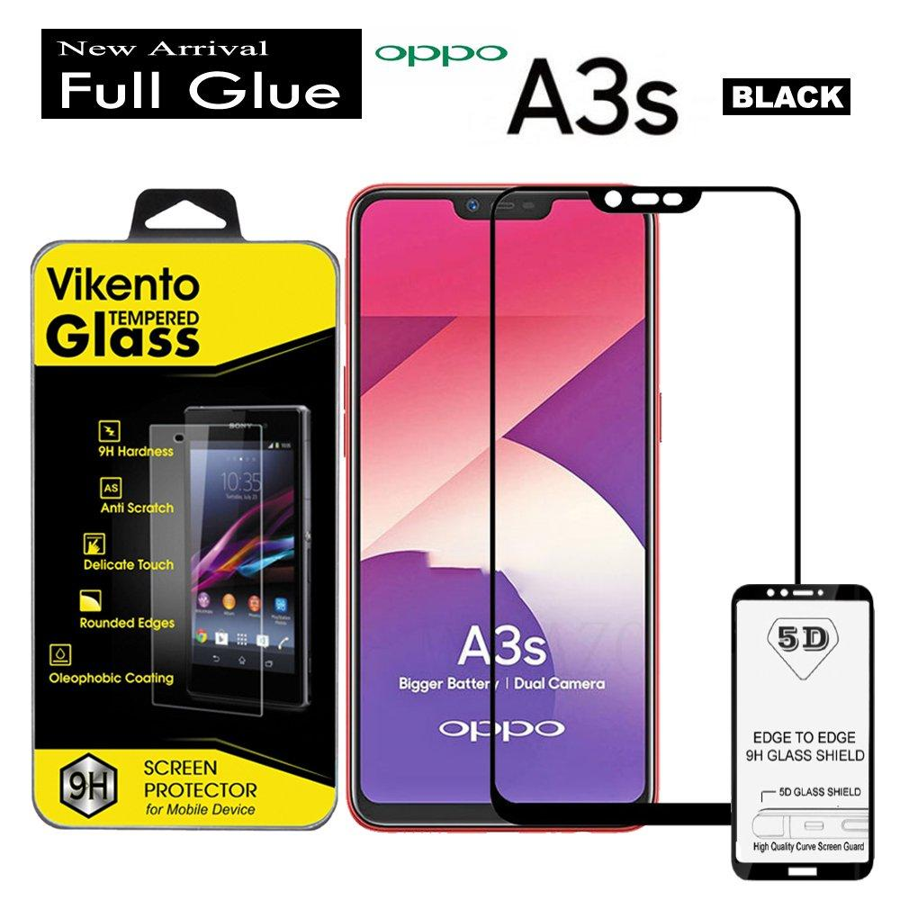2018 New Tempered glass 5D Full Glue For Oppo A3S Anti Gores Kaca Full Lem Full Coverage Screen Protector 9H Glass