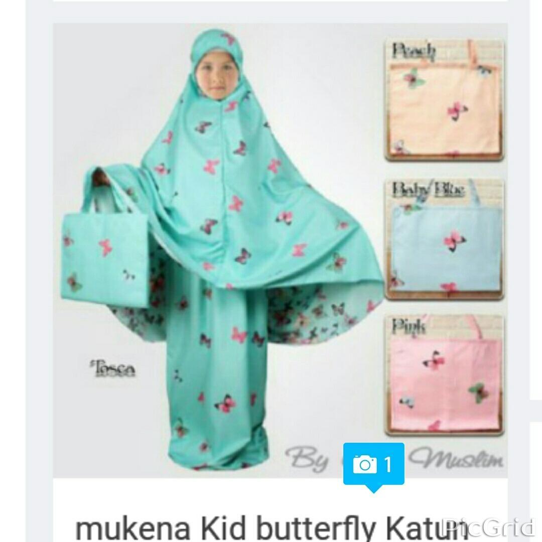 Harga Flam Mukena Anak Butterfly