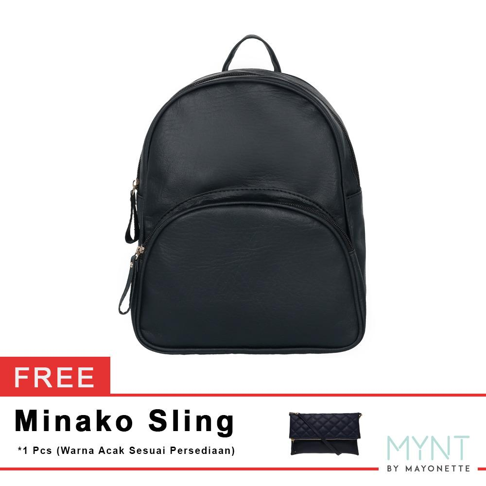 Toko Mynt By Mayonette Tas Ransel Wanita Korean Style Retro Casual Impor Quality Shiny Backpack Hitam Free Minako Shoulders Mayonette Online