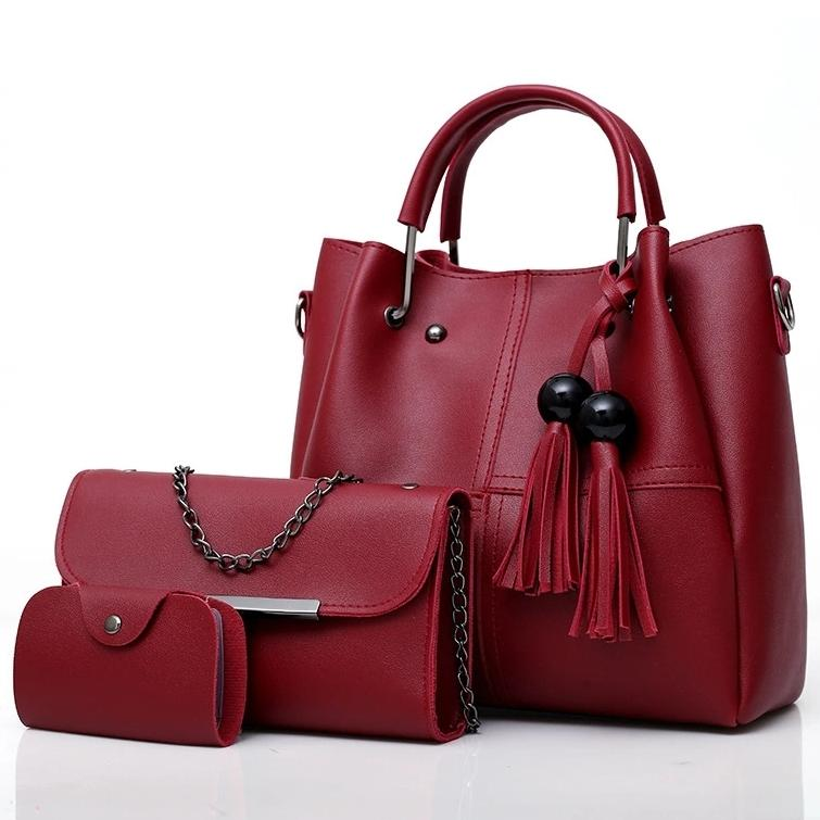 BB31353 HAND BAG TOP HANDLE BAG WANITA TAS IMPORT 3in1