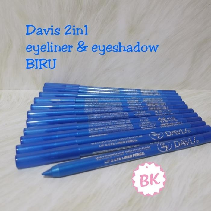 BIRU - PENSIL DAVIS 2IN1 EYELINER DAN EYESHADOW PEN