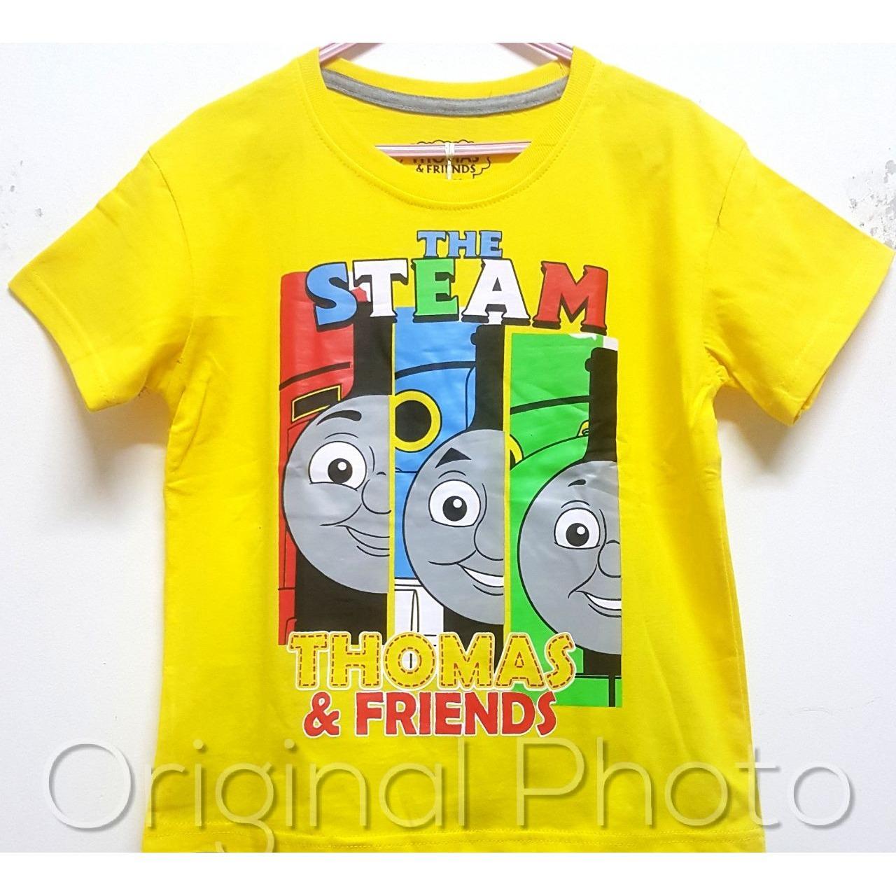 Kaos Anak Karakter - Steam Thomas