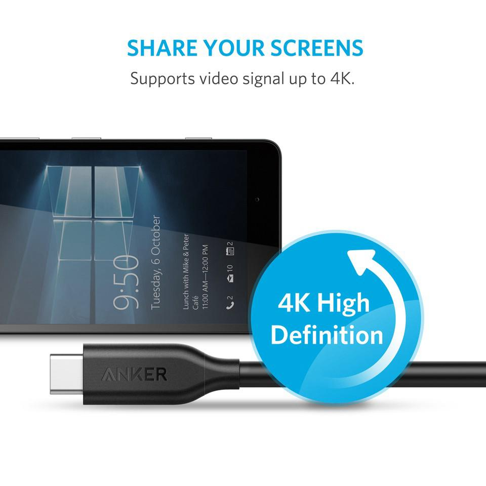 Fitur Anker Kabel Data Powerline Usb C To 3 1 Hitam A8183011 Micro Female Adapter Black B8174011 31