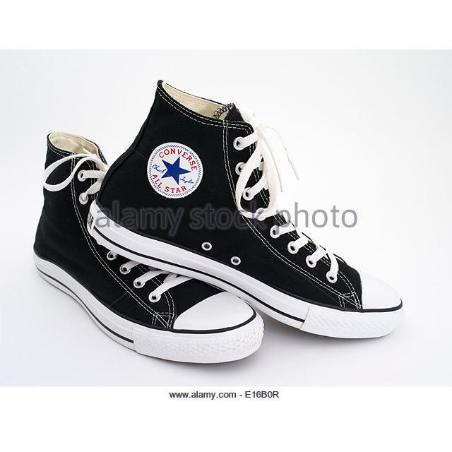 sepatu sneakers converse all star clasic unisex HI LOW CUT-HITAM