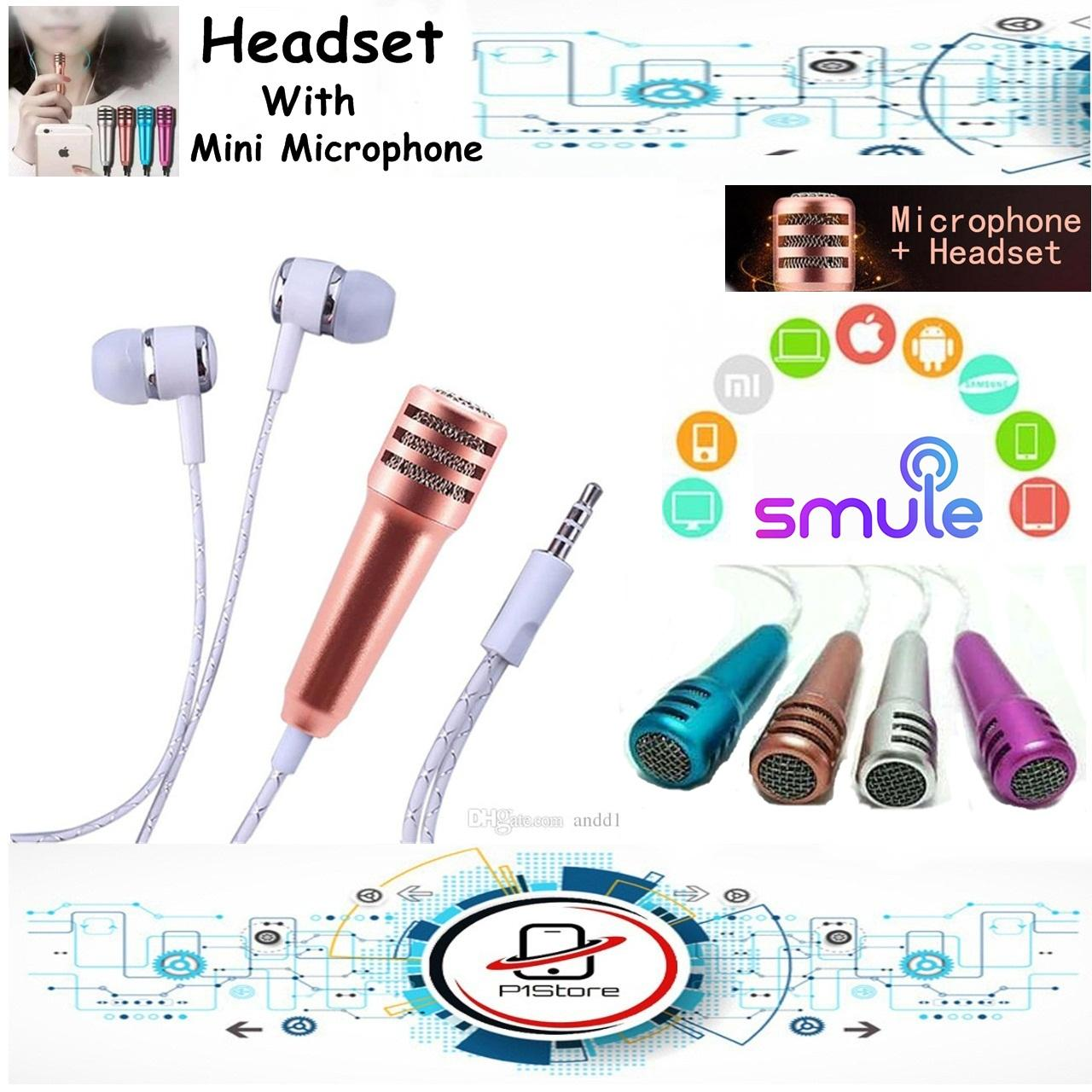 Handsfree Headset Mic Microphone Mini For call dan Smule