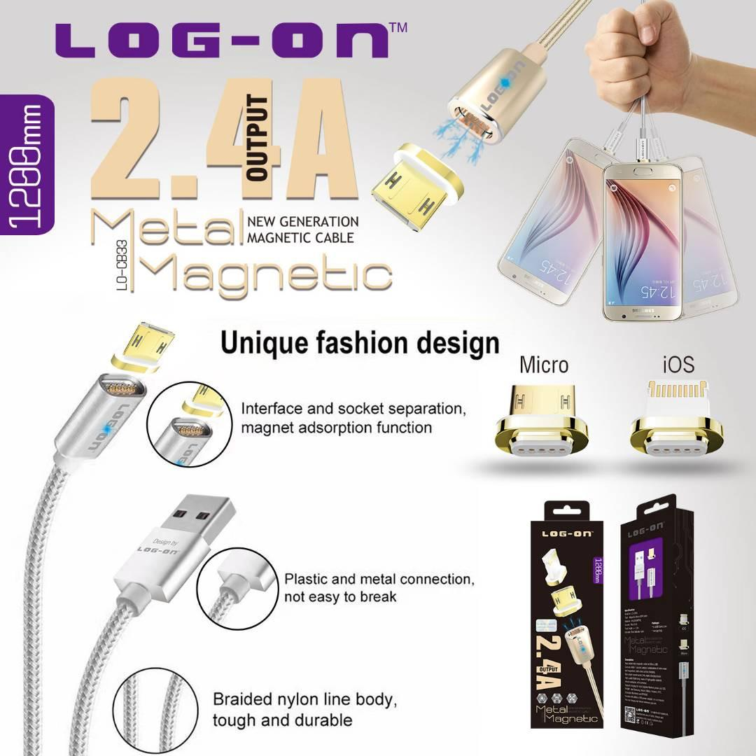 Beli Log On New Metal Magnetic Cable Kabel Magnetic Lo Cb33 For Micro Usb Kredit Dki Jakarta