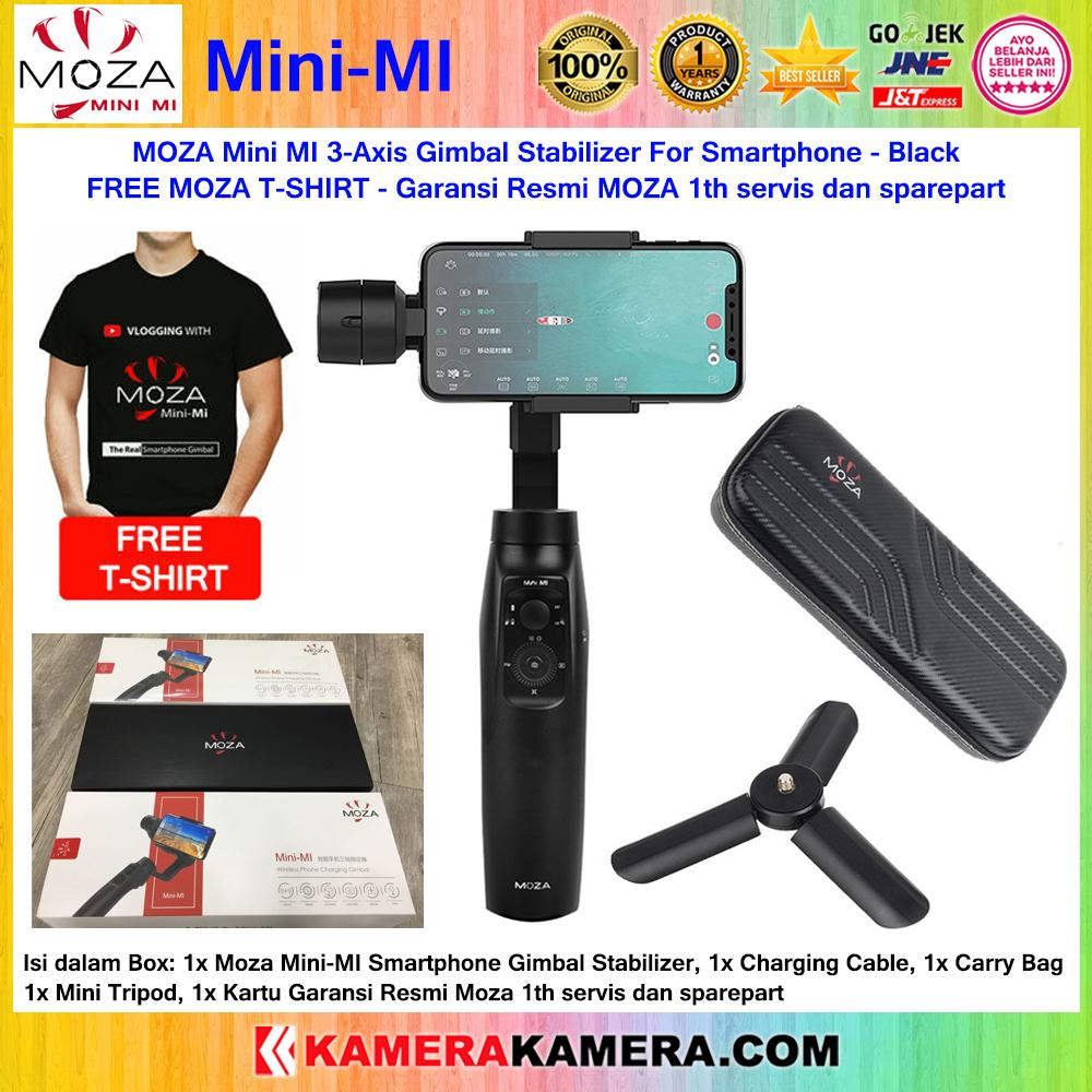 MOZA Mini MI 3-Axis Gimbal Stabilizer For Smartphone Black + Mini Tripod FREE MOZA