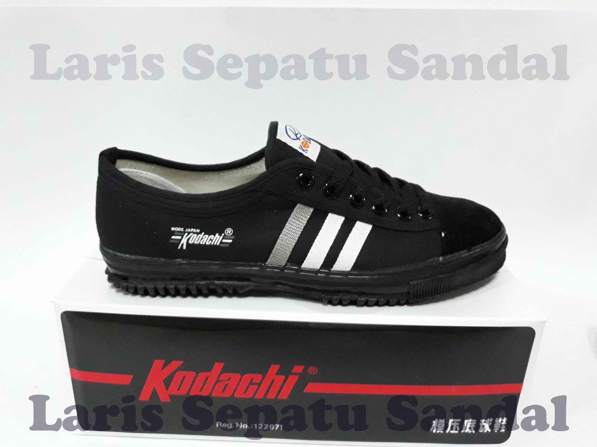 Detail Gambar Sepatu Capung - Kodachi 8111 - Black - Hitam Terbaru