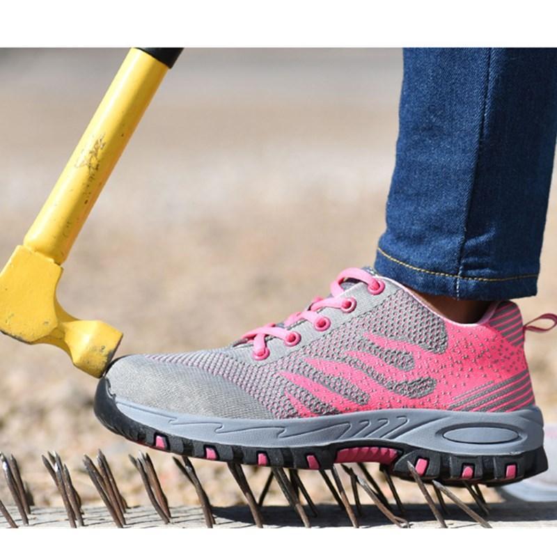 Detail Gambar Mentee Ukuran Plus 36-46 Pria dan Wanita Sepatu Keselamatan Kerja Penutup Jari