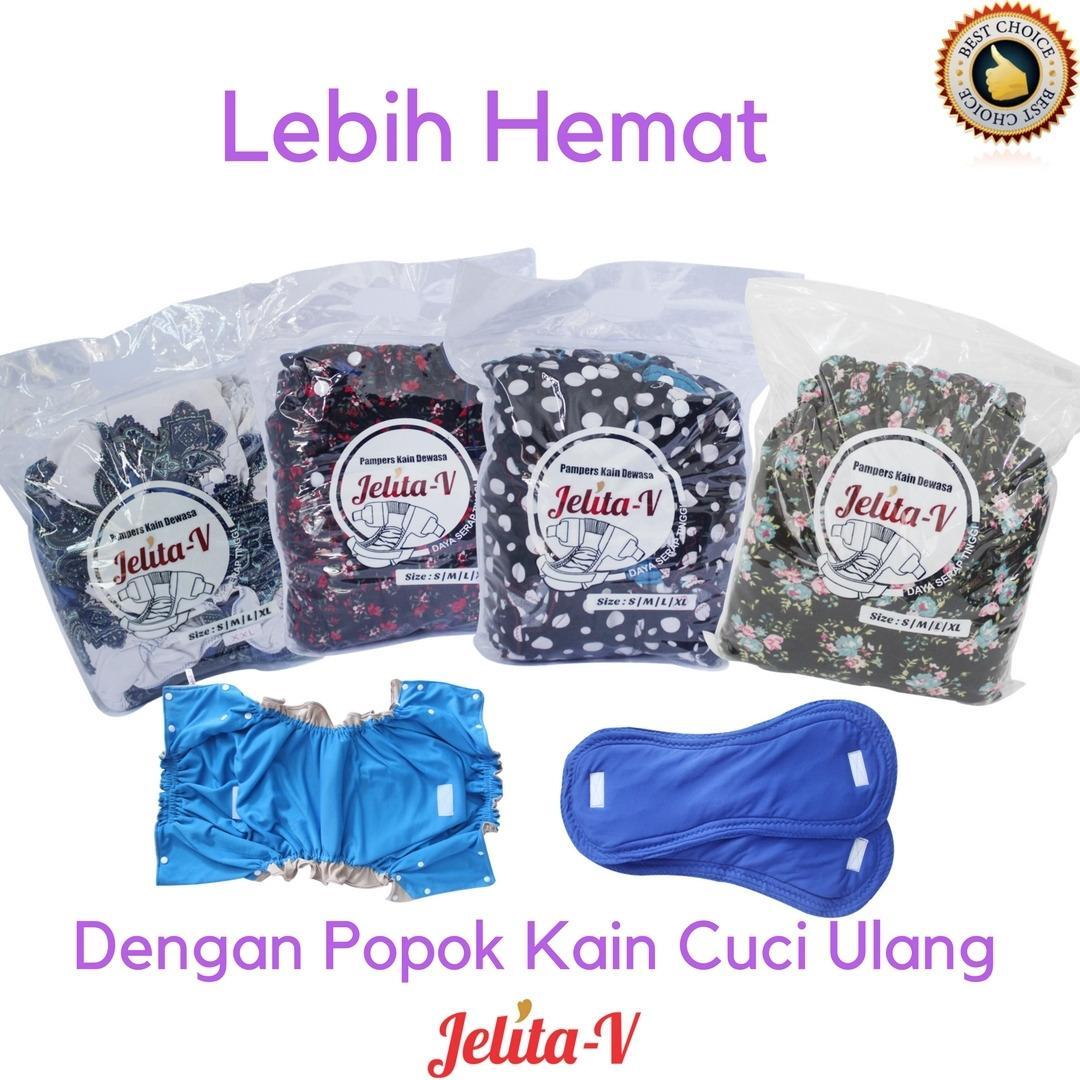 Popok Dewasa Incontinence Terlengkap Oto Adult Diaper L8 Celana Lansia Cuci Ulang Ukuran L