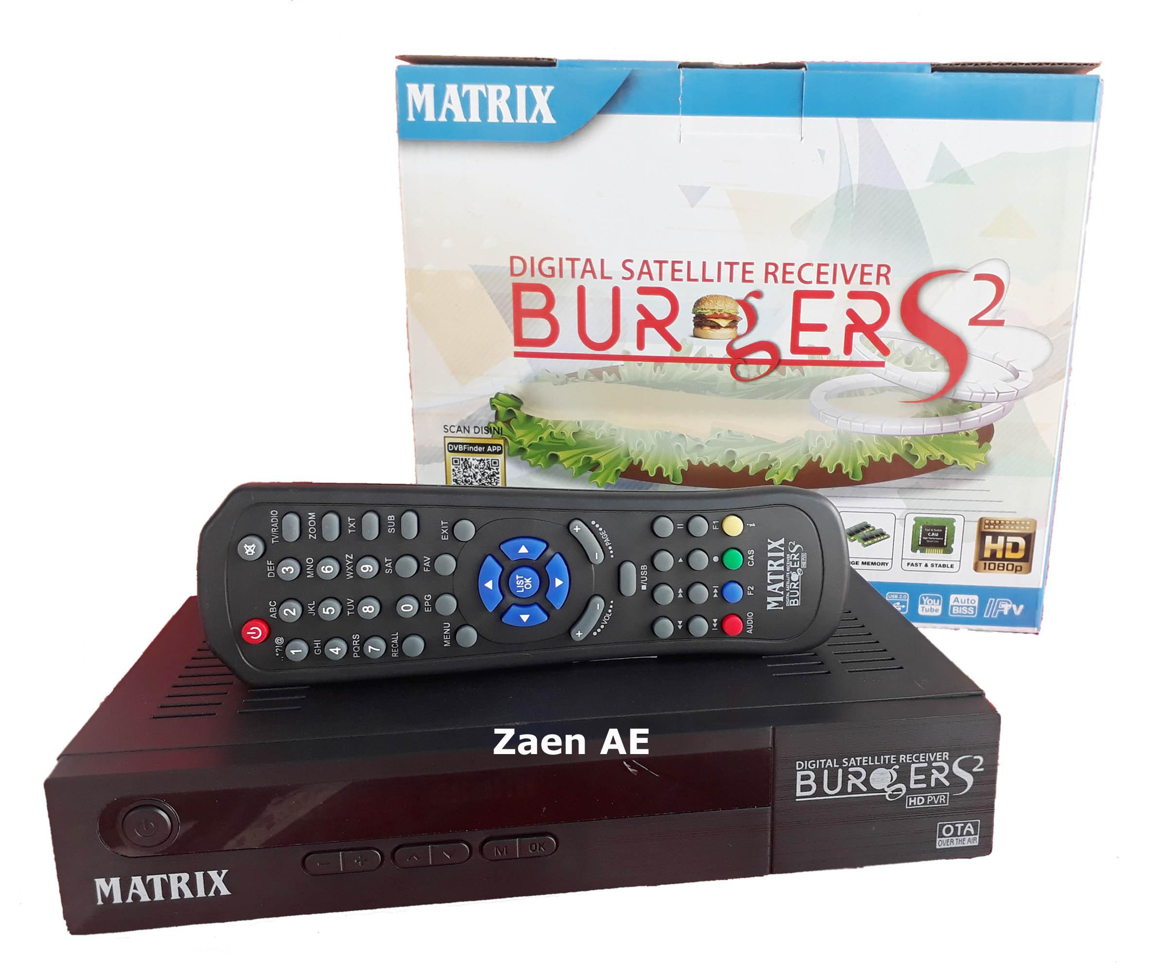 Matrix Burger S2 New AVS+ Satellite TV Parabola Receiver [8 MB]
