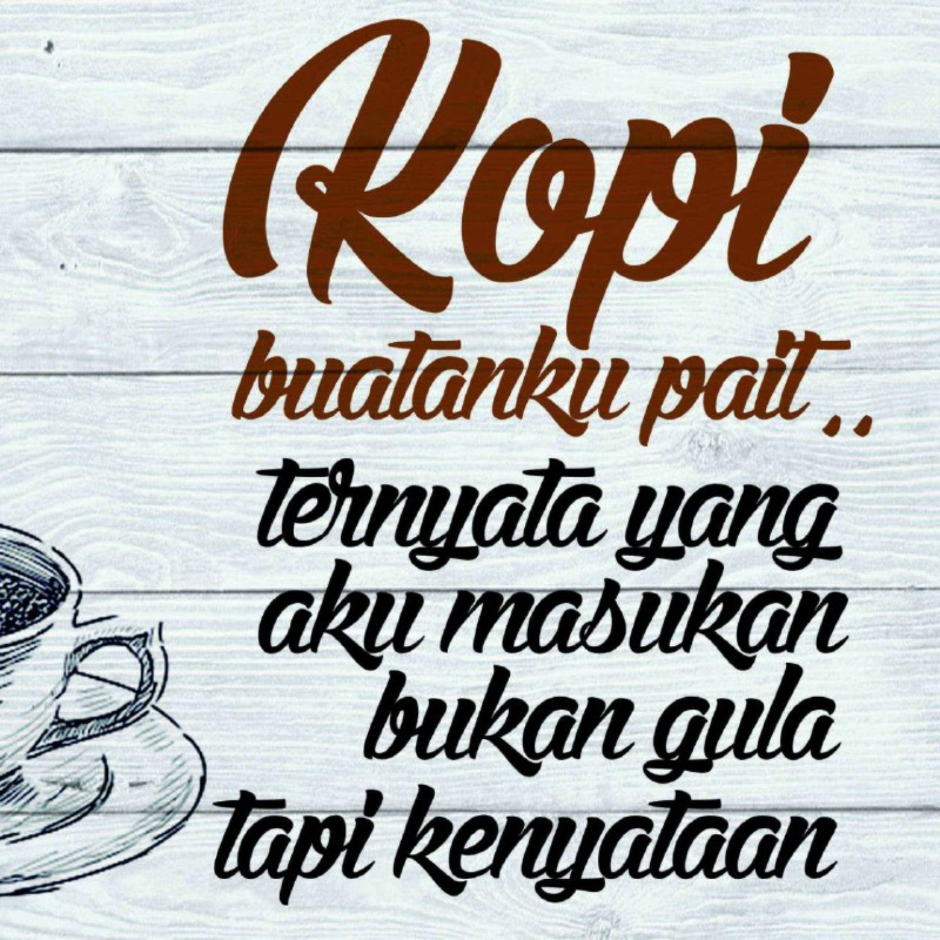 ... Hiasan Dinding Poster Kayu Solid Coffee Funny Quotes - 4 ...