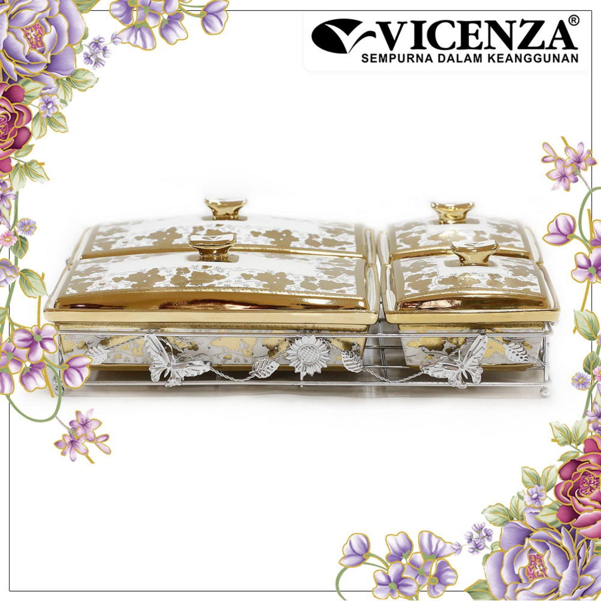 Jual Beli Online Vicenza Tableware Cr749 Wadah Saji Makanan Snack Multi Casserole