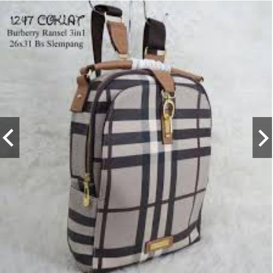 tas ransel wanita tas punggung burberry tas import tas kulit tas branded tas batam tas grosir