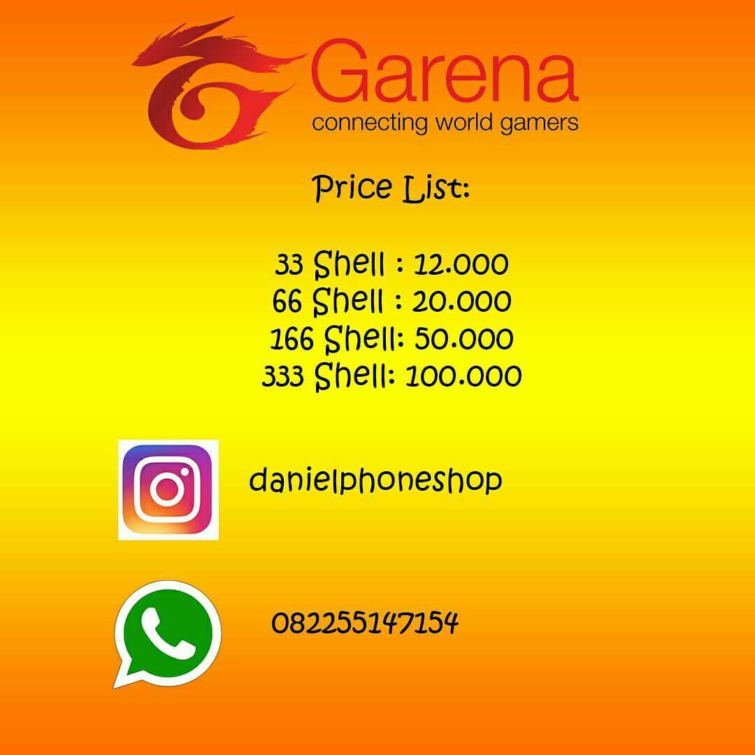 Garena Voucher 50000 165 Shell Digital Code Update Daftar Harga 50 V10 33