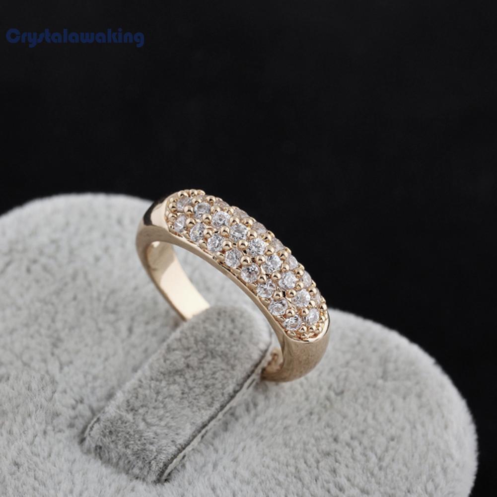 Jual Kemilau Manik Manik Kristal Diamante Jari Cincin 18 Kb Emas Fil As 7 Oem Ori