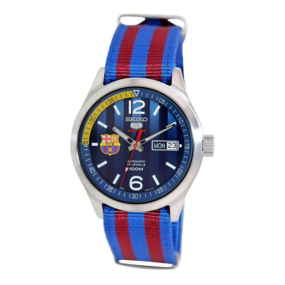 Seiko 5 Sports SRP303K1 Automatic Blue-Red Barca | Jam Pria SRP303 Best N2jt