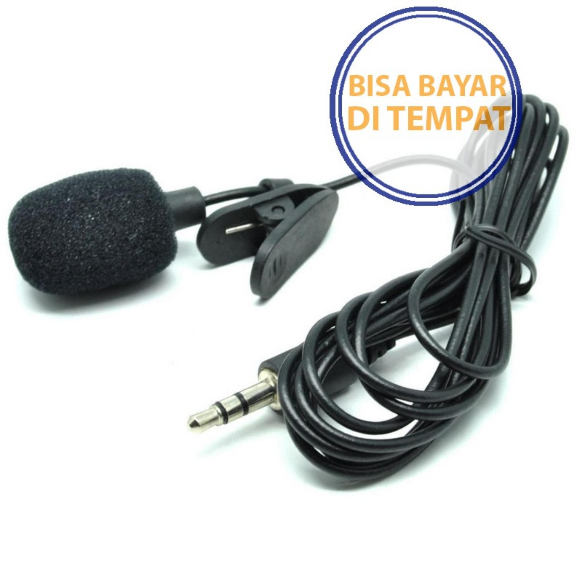 PROMO SAAT INI Microphone Clip Smartphone Laptop Tablet PC Youtube Vlog Smule VC 3.5m
