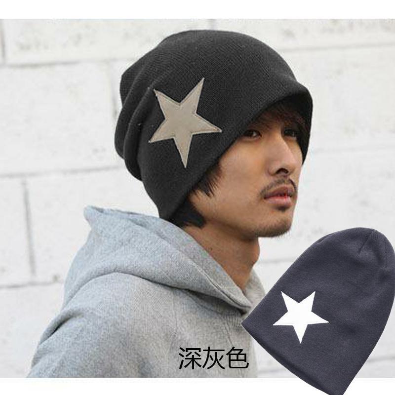 Topi musim dingin wanita pasang Dot topi wol rajut Korea Selatan Imut topi  lancip Pria dan 6b9b664feb