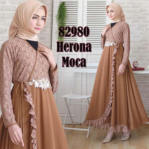 TotallyGreatShop Gamis Pesta Brukat Bordir Premium Original real pic Fashion Busana Kondangan Muslimah Gaun Kebaya Pesta