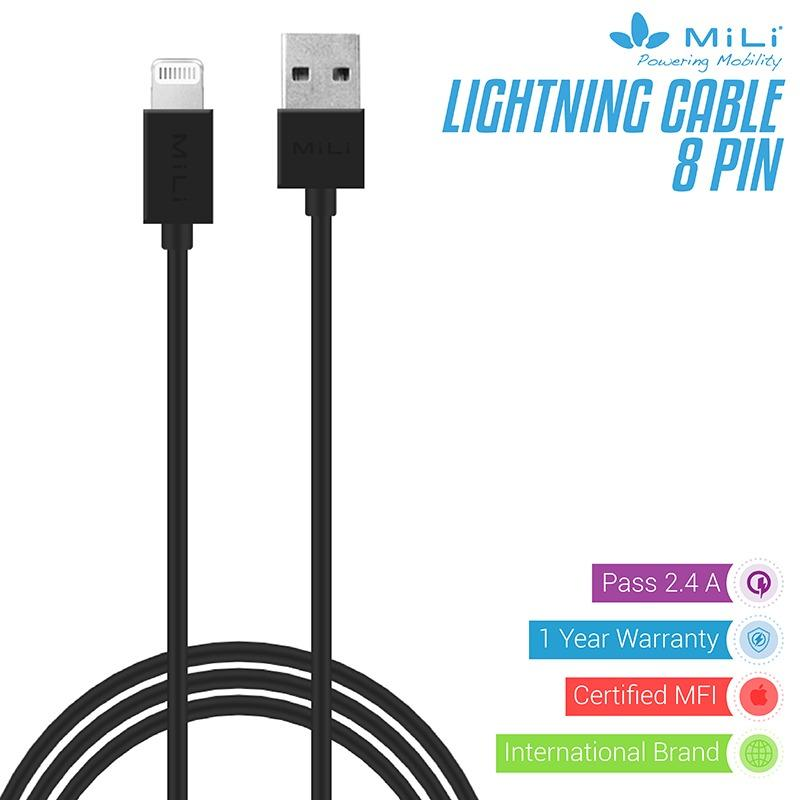 Mili Kabel 8 Pin Lightning Mfi For Iphone 5 5S 6 Dan 6 8 Pin Hitam Promo Beli 1 Gratis 1