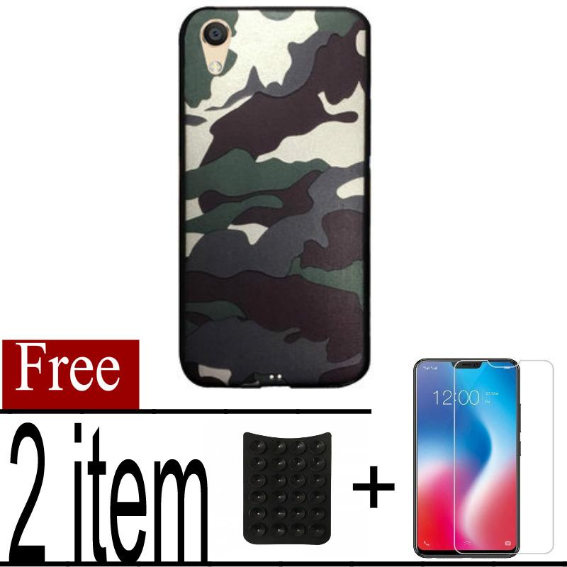 Softcase case Army Loreng For Oppo A37 + Free Tempered Glass Protector + Should Holder Gurita_Spirit_Store