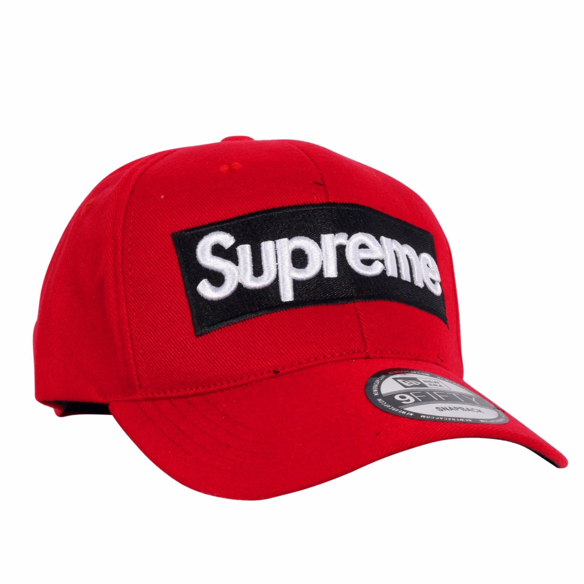 Dgm Fashion1 Topi Polos Merah Supreme Topi Combinasi  Topi Denim Topi  Jaring Topi f8392732f5