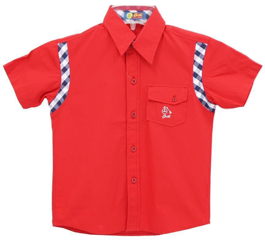 Basta Kemeja Anak Anak Polos Merah