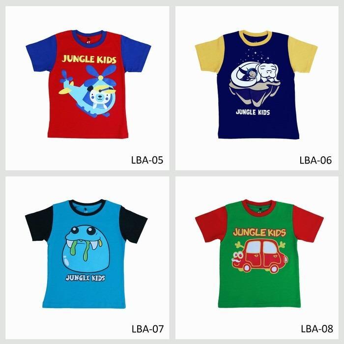 Spesifikasi Kaos Anak Laki Laki Motif 1 Set Isi 4 Pcs