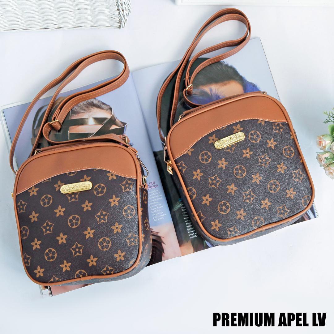 Toko Jual Carlo Rino Signature Brown Sling Bag Dan Info Harga Moofeat Black Tas Wanita Premium Apel Lv