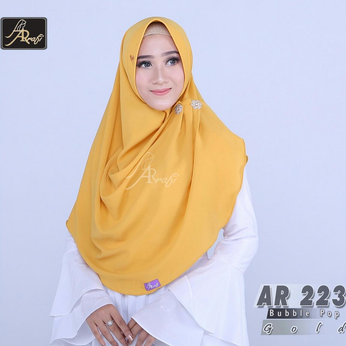Features Jilbab Instan Aqeela Ori By Arrafi Ar 223 Gold Dan Harga