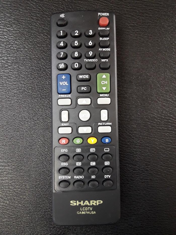 ORIGINAL - JUAL REMOT REMOTE TV SHARP LCD LED PLASMA SMART 3D ORI ORIGINAL ASLI