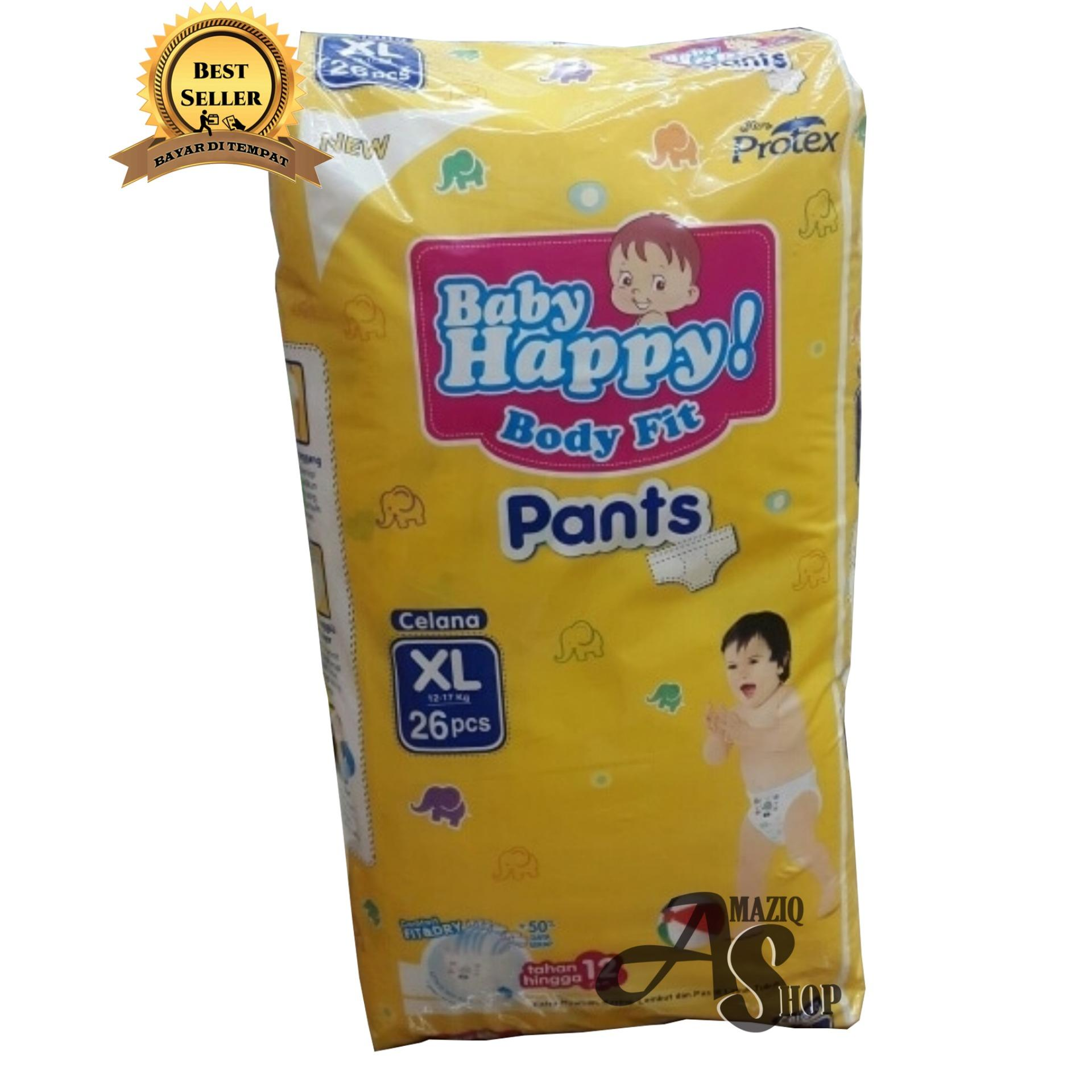 Baby Happy Body fit Pants Pack XL 26 Isi 1 Pack .