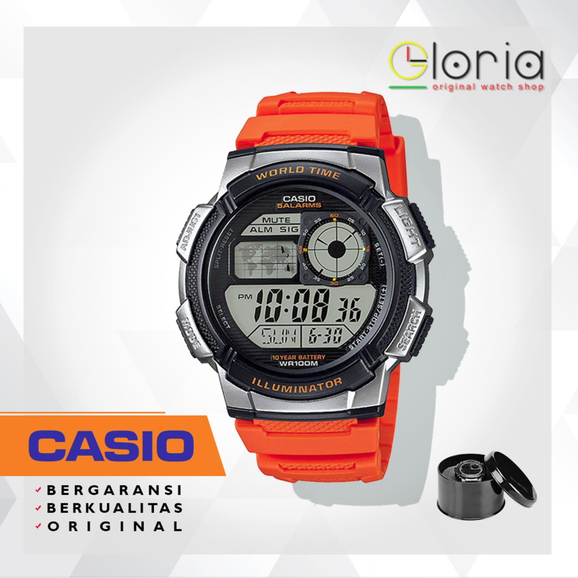 Casio AE 1100WD 1AVDF Jam Tangan Pria Silver Stainless 3 . Source · CASIO Illuminator AE