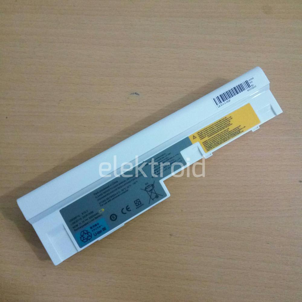 Baterai Lenovo Ideapad S10-3 S10-3s S100 S205 U165 Putih di lapak elektroid elektroid